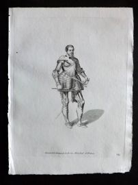 Jefferys 1772 Costume Print. Armand de Gontaud de Biron, Marechal de France